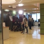 Filming by the Green Elevators