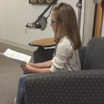 Gracie doing her voice over recording
